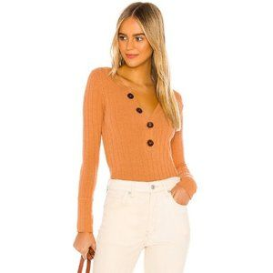 Free People $58 Oliver Long Sleeve Henley Clay